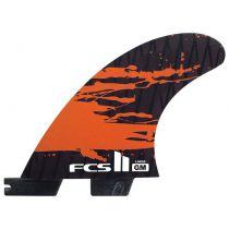 Ailerons de surf FCS II GM PC Carbon Fluro Orange Large retail fins