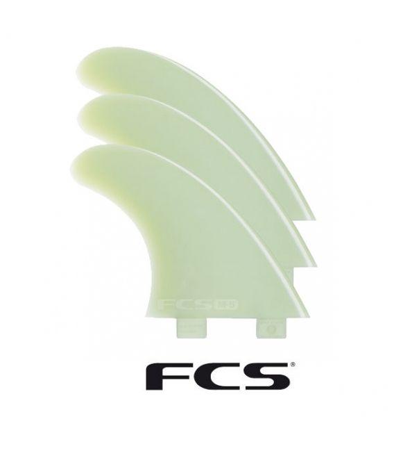 Ailerons de surf FCS M5 Natural Glass Flex tri Fin set