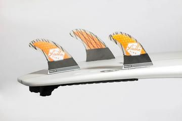 Ailerons de surf Feather Fins SuperLight Dual Tab Orange