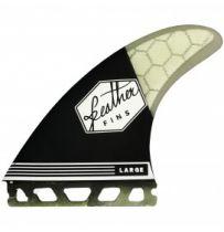 Ailerons de surf Feather Fins Ultralight Single Tab F2 Black