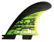 Ailerons FCS II MB PC Carbon Green Medium Tri Retail Fins