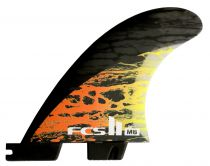 Ailerons FCS II MB PC Carbon Orange Small Tri Retail Fins