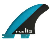 Ailerons FCS II MF PC Blue/Black Medium Tri Retail Fins