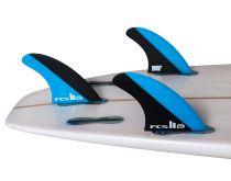 Ailerons FCS II MF PC Blue/Black Medium Tri Retail Fins