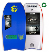 Bodyboard PRIDE The Stereo PE HRC Aqua Blue+White