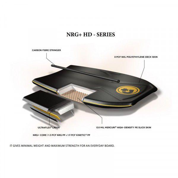 Bodyboard PRIDE The Timeless NRG+ HD S18 Yellow/Orange