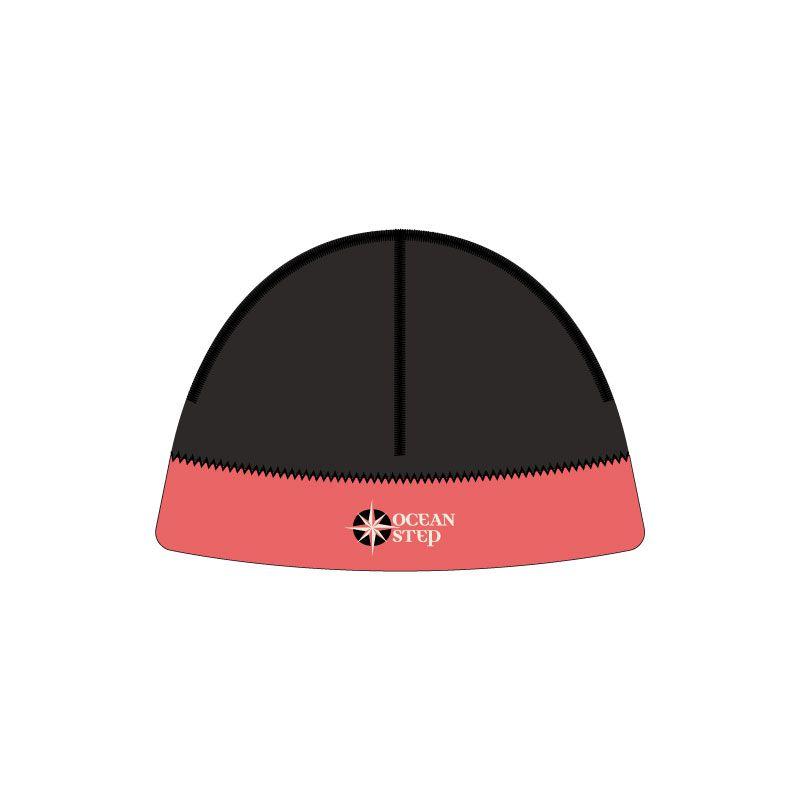 Bonnet néoprène Océan Step Longe côte 3mm black/red