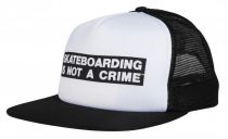 Casquette Santa Cruz Not A Crime Cap White/Black