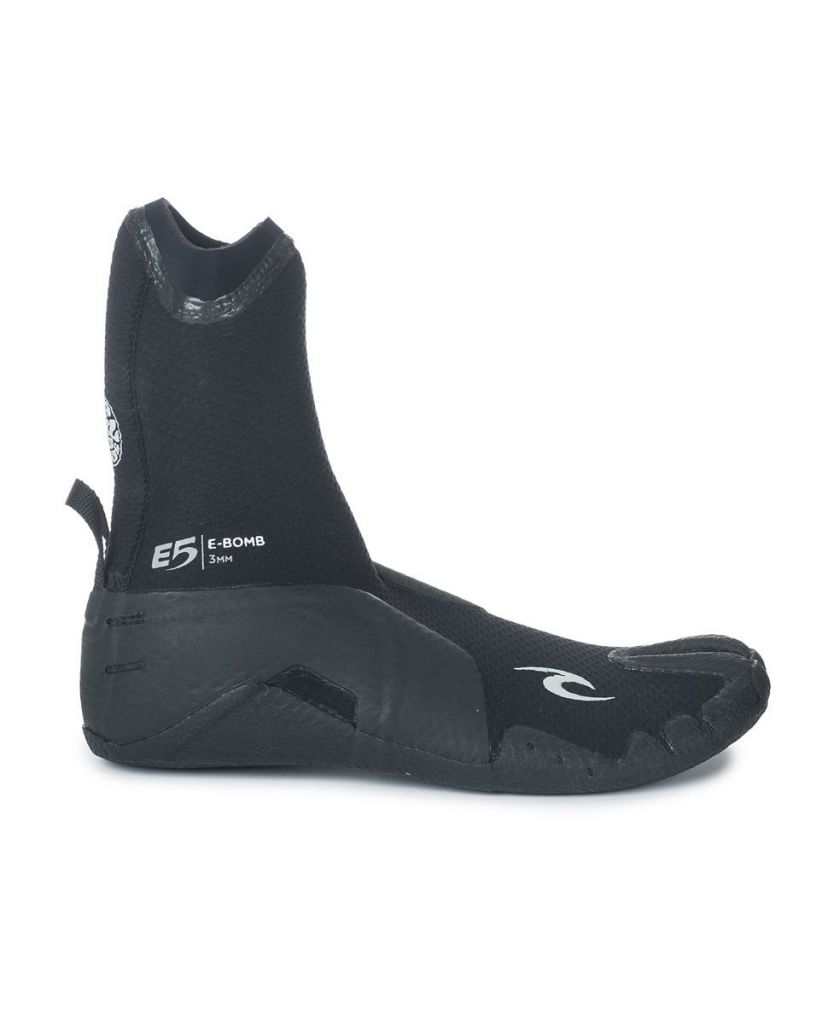 Chaussons néoprène Rip Curl E BOMB 3MM S/TOE BOOT Black