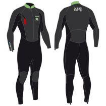 Combinaison néoprène Longe côte Océan Step 4/3 Homme Black/green