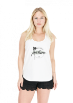 Debardeur Femme Picture TIME TO CHILL TANK White