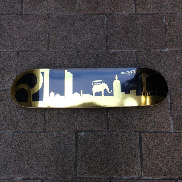 Deck de skate Ride All Serie limitée Gold