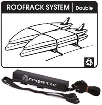 Galerie souple Mystic Roofrack Système Double black