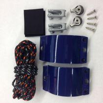 Kit d\'étarquage de voile de windsurf Clam Kit Pro (coinceurs alu + poulies + cordages)