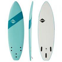 Planche de surf en mousse SOFTECH Handshaped SB FCS II 6\'0 Soft Sky