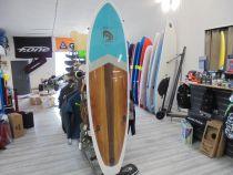 Planche de surf Surfactory 7\'2  funboard wood