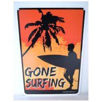 PLAQUE GONE SURFING BOY