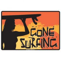 PLAQUE GONE SURFING SUNSET