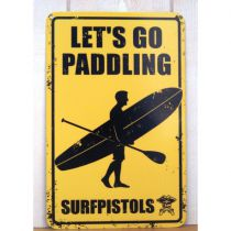 PLAQUE LET\'S GO PADDLING