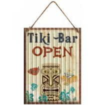 PLAQUE TIKI BAR OPEN