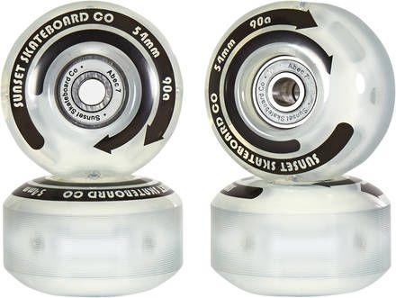 Roues de skate flare LED wheels 54mm street Sunset 90A
