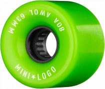 Roues mini Logo Awol 63mm 80A Green