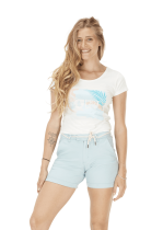 Short Femme Picture Anjel Light Blue