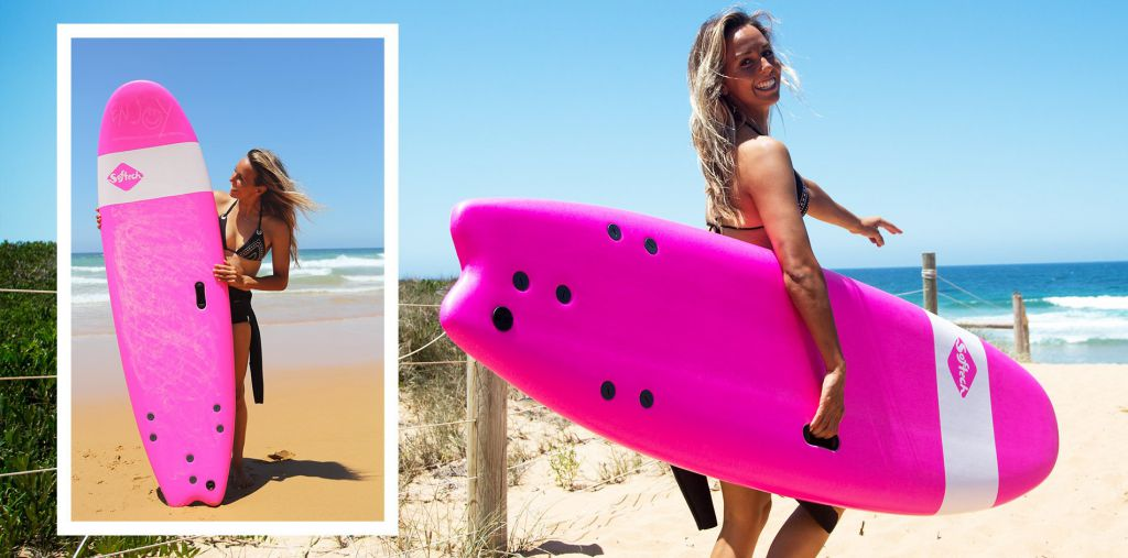 SOFTECH Handshaped Sally Fitzgibbons FB 6 \'0 Pink - Modele Expo