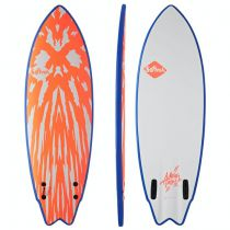 Surf MASON TWIN FCS II 5\'10 NEON RED/WHITE