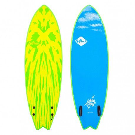 Surf mousse softech mason twin 5\'6 lime yellow