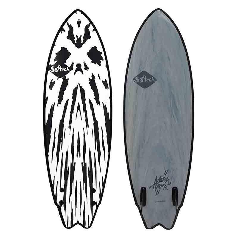 Surf mousse softech mason twin 5\'6 lime yellow