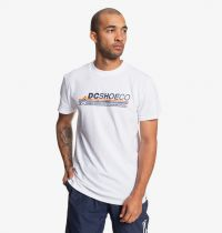 Tee Shirt DC Shoes Lightspeed White