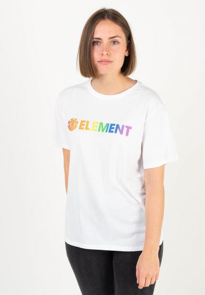 Tee Shirt Femme Element Logo Multi