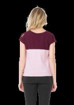 Tee Shirt Femme Picture Lysie Burgundy Pink