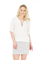 Tee Shirt Femme Picture ZINNIA SS TOP White