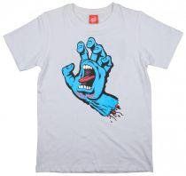 Tee Shirt Junior Santa Cruz Screaming Hand White