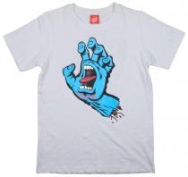 Tee Shirt Junior Santa Cruz Screaming Hand White