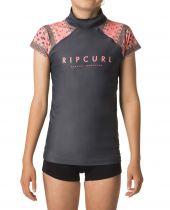 Tee shirt Lycra Girl Rip Curl GIRL PARADISE anti UV S18 Navy