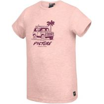 Tee Shirt Picture Anglet Crystal Pink Melange