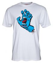 Tee Shirt Santa Cruz Screaming Hand White