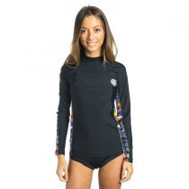 Top Lycra Femme Manches longues Rip Curl All Over L/SL Titanium