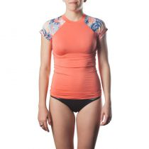 Top lycra femme Rip Curl Wetty Cap Sleeve Coral
