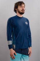 Top Lycra homme Aggro Relaxed L/SL UV TEE Blue
