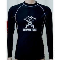 Top Lycra manches longues Surfpistol Pirate Black
