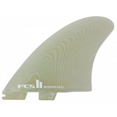 Ailerons de surf FCS 2 Modern Keel PG Clear Twin Retail Fins
