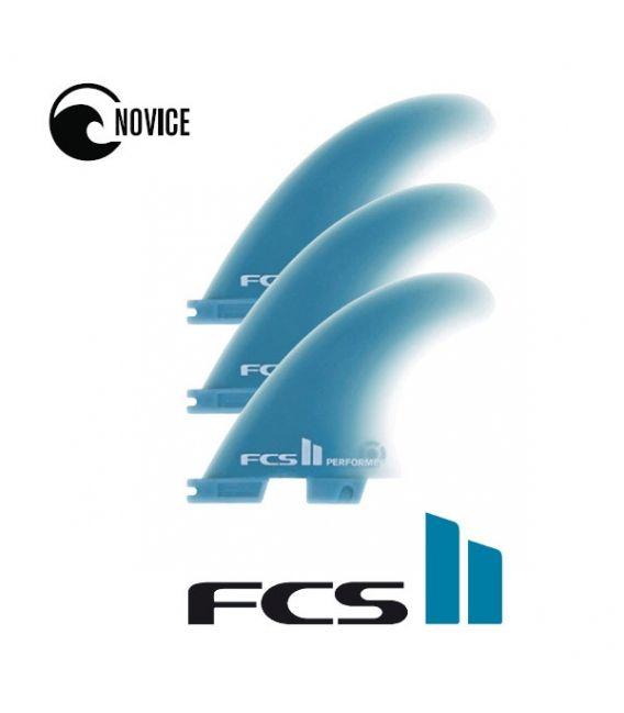 Ailerons de surf FCS 2 performer GF medium tri retail fins