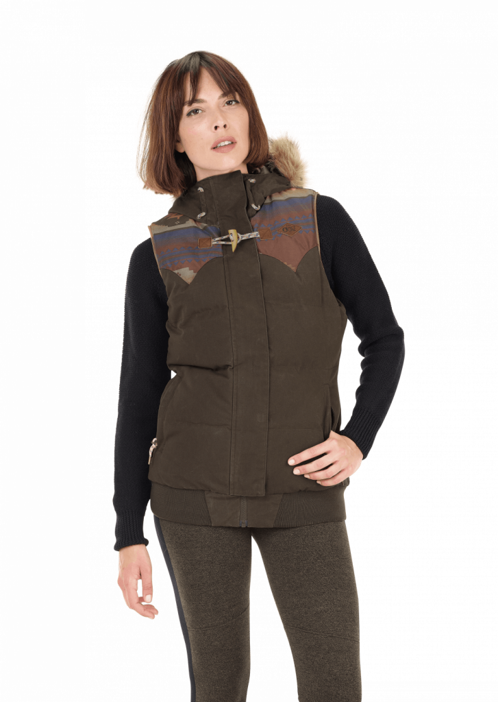 Blouson sans manches femme Picture Organic HOLLYW18 Brown