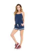 Combishort Picture POPPY 3 OVERALL Dark blue