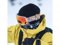 Masque de ski OUT OF Open Black Ski Googles W/Extra Lens Red