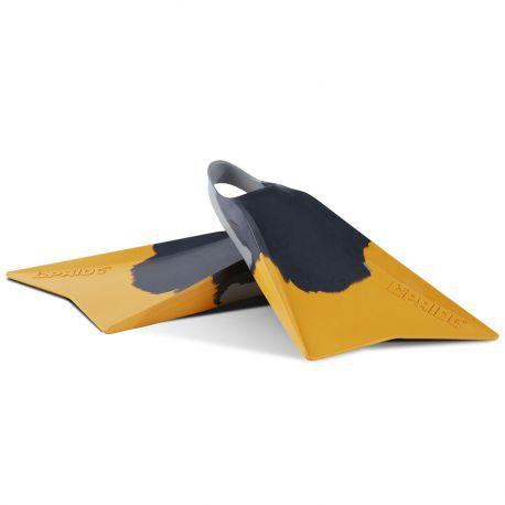 Palmes de bodyboard Pride The Vulcan V2  (D-GREY/L-GREY/SPECTRA)